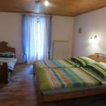 1 Doppelbett, 1 Einzelbett + großer Kleiderschrank und Zugang zur Terrasse