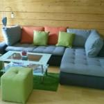großzügige ausziehbare Couch